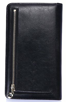 Mymazn Waitress Book Server Wallet, With a Zipper Pocket at Back