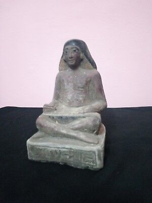RARE ANTIQUE ANCIENT EGYPTIAN Statue Scribe Scribes Scriber 2450–2325 Bce