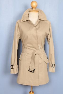 BEAUTIFUL Womens BURBERRY Single Breasted Short TRENCH Coat Mac Beige 10/12