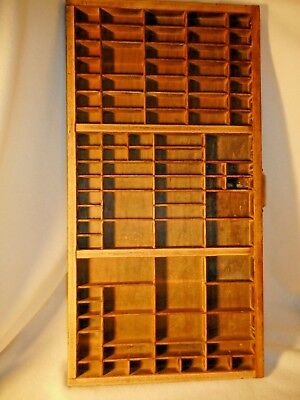 Antique Type Drawer-Old Wood Printers Type Drawer HAMILTON-LARGE-Good Condition