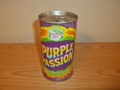 Vtg AIR SEALED CANADA DRY PURPLE PASSION TEST SODA CAN
