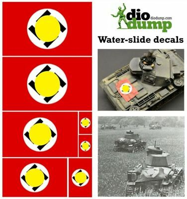 DioDump DD010 German WW2 vehicle recognition flags 1:35 / 1:48 / 1:72 scale