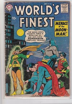 World's Finest Comics #98 Gd Dc Comics Silver Age Superman & Batman!