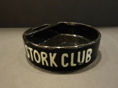 All Original Stork Club Of N.y.c New York Ashtray With Match Holder