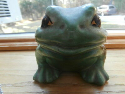 OLD GREEN CERAMIC BULLFROG made in Connecticut