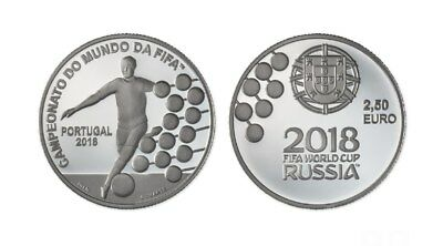 FIFA World Cup Russia 2018 2.5 Euros coin Unc Portugal  NEW