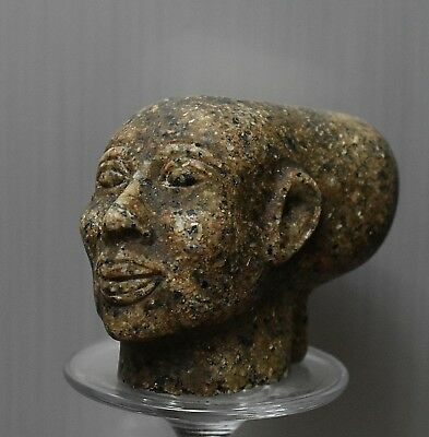 ANCIENT ANTIQUE Egyptian stone statue of Priest in Ancient Egypt (300-1500 BC)