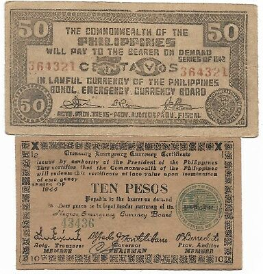 Old Japanese Invasion WWII Japan War 1942 1944 WW2 Note Collection Lot/UK/US148