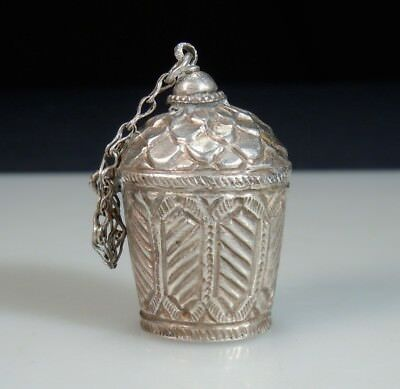 Vintage Antique Silver Snuff Bottle                51310