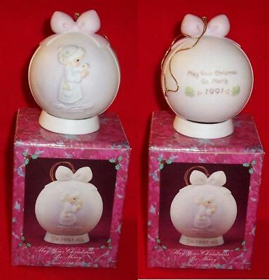 Precious Moments 1991 Ornament MAY YOUR CHRISTMAS BE MERRY Enesco #526940 NEW