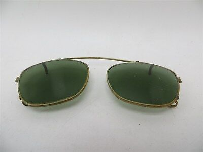 Vintage B&L 48mm Bausch & Lomb Ray Ban Clip On Sunglasses Gold