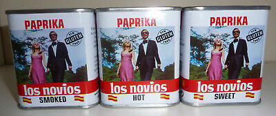 3 X Los Novios - ALL 3 Authentic Spanish Pimenton (Paprika) - Smoked/Hot/Sweet