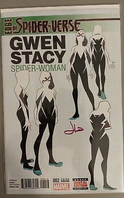 Edge of Spiderverse 2. 3rd Print. Signed by Jason Latour. COA 1st Spider-Gwen!