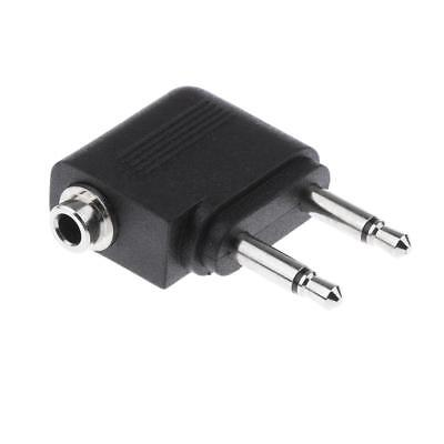 Stereo 3.5mm to 2 x 3.5mm Mono Jack Plug for Airline Headphone Audio Adpater