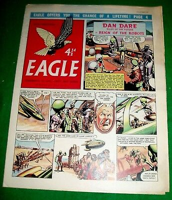 Eagle Comic 29/3/1957 With Swedish Navy Shelters Stunning Cutaway Drawing