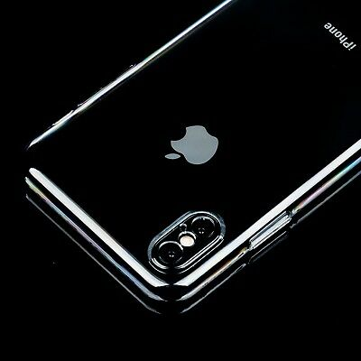 10X Hard Transparent Crystal Clear Back Slim Case Cover for iPhone X 8 Plus 7 6s