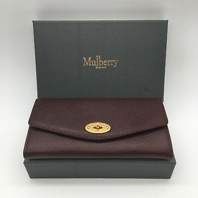 NEW Mulberry Darley Wallet Oxblood Natural Grain Leather - Gift for Her BNIB