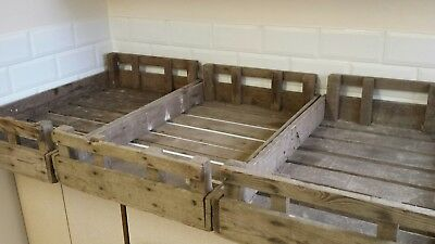 3 x Vintage seed potato trays/ apple crates etc for up cycle