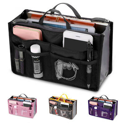 Women Organizer Handbag Travel Bag Purse Organiser Pouch Ladies Bag