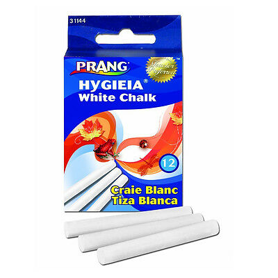 New Prang Hygieia Chalk, 3.25 X 0.375 Inch Chalk Sticks, 12X, White (3Pack)