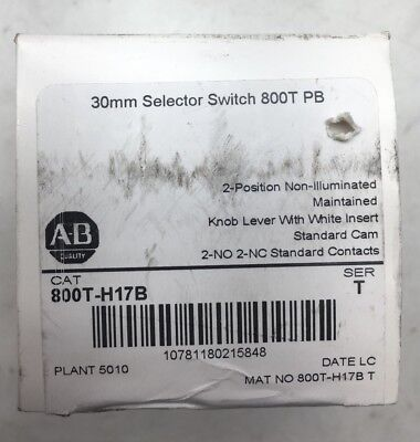 NEW 800T-H17B ALLEN BRADLEY 800TH17B 2 Positiion Maintained 2 NO 2 NC Contacts