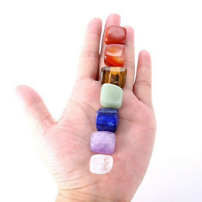 7pcs/set Chakra Natural Gemstone Reiki Healing Quartz  Irregular Polished Stones