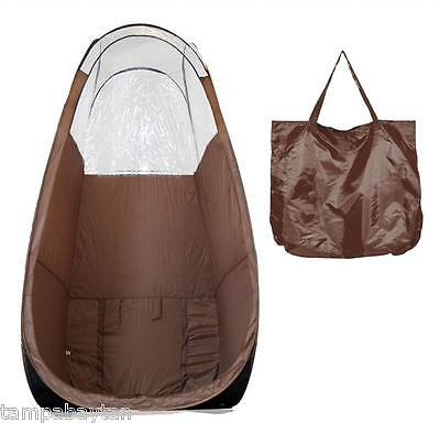 Tampa Bay Tan Maximist Tanning Overspray  Popup Tent Brown- Free Ship In Usa