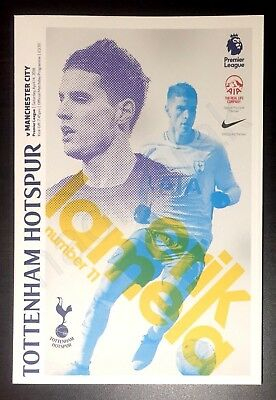 TOTTENHAM HOTSPUR Spurs v MANCHESTER CITY Man City PROGRAMME 14 April 2018