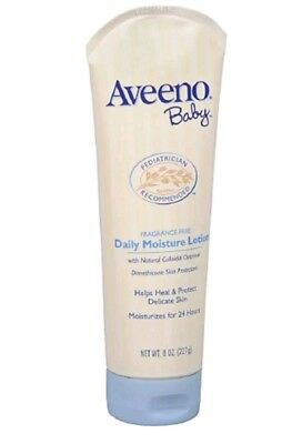 NEW! (2) AVEENO Baby Fragrance Free Daily Moisture Lotion 8 oz