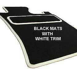 VOLVO XC60 (2008 on) 8 FIXING CLIPS Car Floor Mats WHITE TAILORED