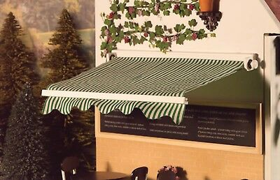 Dolls House Emporium Miniature 1/12th Scale Green and White Shop Canopy 5524