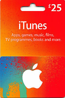 25 GBP UK Apple iTunes Gift Card Code Certificate £25 Pound UK British English