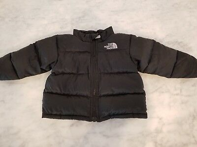 The North Face 550 Fill Down Puffer Jacket Coat Toddler Size 6-12 Months Black
