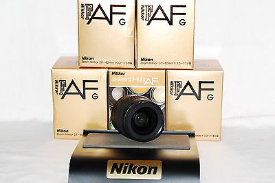 Beautiful Nikon Zoom-Nikkor AF-G 28-80 SILVER Lens + Warranty, 4 larger DSLRs