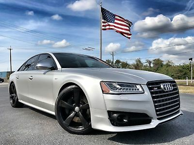 """Audi S8 DRIVER ASST 21""""S VERMONT LEATHER 8*$125K NEW*MATTE GREY*VERMONT LEATHER*21""""S*1 OWNER*CARFAX CERT*WE FINANCE*FLA"""