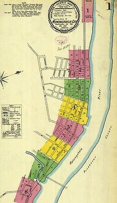 Monongahela City, Pennsylvania~Sanborn Map©~56 maps on CD~ color~1886 to 1918