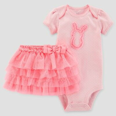 d901fd3fdaf2 CARTER S JUST ONE You 6 Month Baby Girl Pink Easter Bunny Bodysuit ...