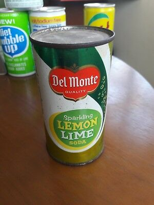 60s 1962 Del Monte Lemon Lime Unopened Empty Flat Top Soda Can Sealed No Zip Tab