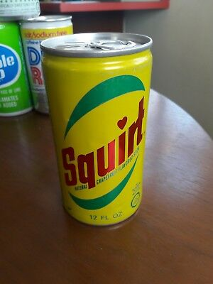 70s 1974 Squirt Soda Can Pull Tab Unopened Empty Air Sealed Aluminum