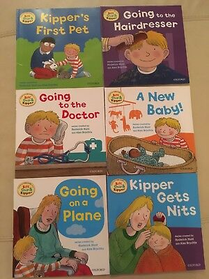 6 Phonics oxford reading Chip & kipper books - having a baby, doctor, pet, nits