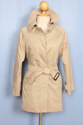 BEAUTIFUL Womens BURBERRY Single Breasted Short TRENCH Coat Mac Beige 6/8