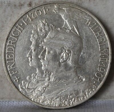 "1901-A *Silver* German States Prussia 5 Marks ""UNC"" *Free S/H After 1st Item*"