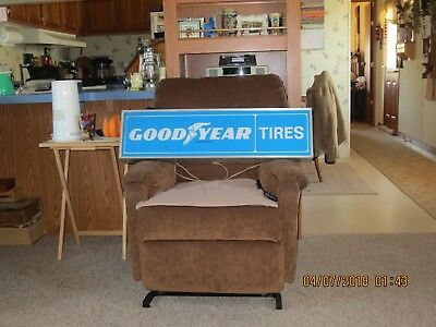 Vintage GOODYEAR TIRE SIGN 36x10 lighted