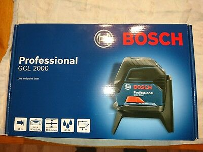 Bosch profesional GCL 2000 line and point laser BRAND NEW -SEALED BOX