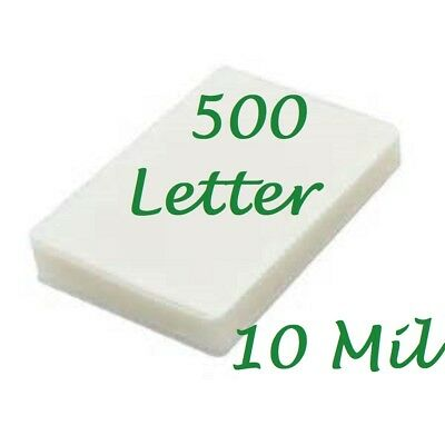 500 Letter 10 Mil Laminating Pouches Laminator Sheets 9 x 11-1/2 Scotch Quality