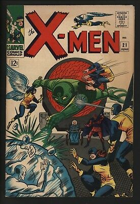 X-Men #21 Vs Lucifer! Original Owner Glossy Cents Copy From June 1966