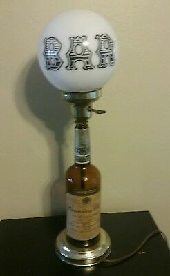 Vintage Canadian Club Whiskey Bottle Lamp Bar Sign Man Cave Tested