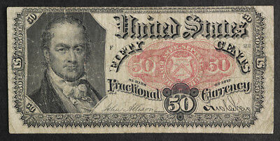 1875 Fractional Note 50 Cents, Crawford Fifth Issue- 50c -Fr. 1380 - Very Fine