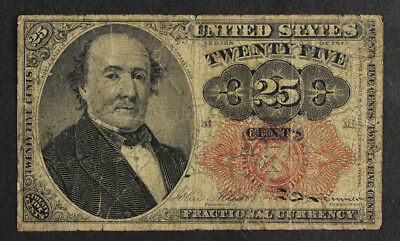 1874 US Fractional Currency, Twenty Five Cents -5th issue Robt Walker -FR1308