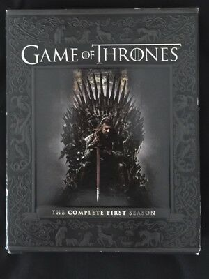 Game of Thrones: The Complete First Season (Blu-ray Disc, 2012, 5-Disc Set)